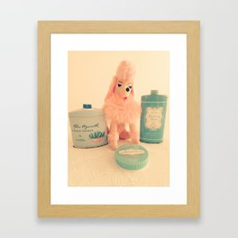 Poodle Powder Framed Art Print