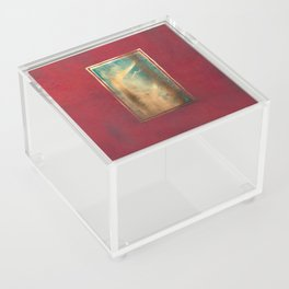 Deep Red, Gold, Turquoise Blue Acrylic Box