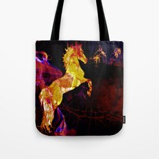 HORSE - War horse Tote Bag