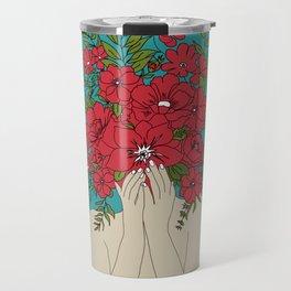 Blooming Red Travel Mug