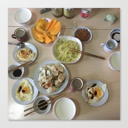 Chinese farewell breakfast Canvas Print