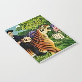 Henri Rousseau Dreaming of Tigers tropical big cat jungle scene by Henri Rousseau Notebook