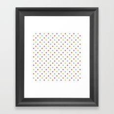 Fun Dots multi-coloured Framed Art Print
