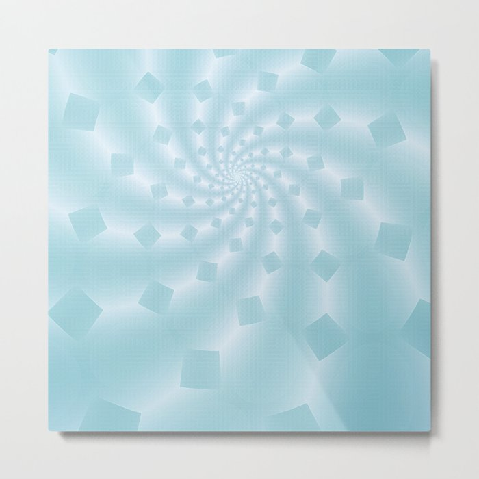 Tess Fractal in Frozen Blue Metal Print
