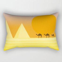 In the desert... Rectangular Pillow