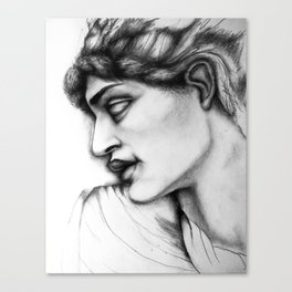 Pre-Raphaelite Sketch Canvas Print