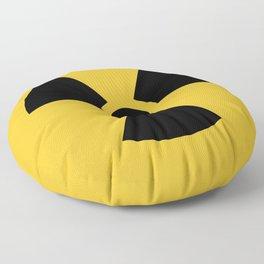 Radiation Hazard Symbol Floor Pillow