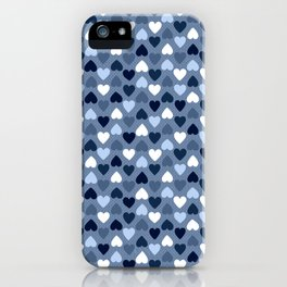 Small Denim Hearts iPhone Case