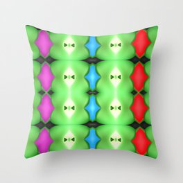 Softly plastic pattern Throw Pillow