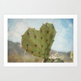 cactus heart Art Print