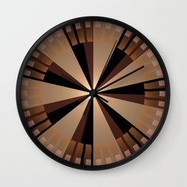 Golden beams, geometric pattern abstract Wall Clock