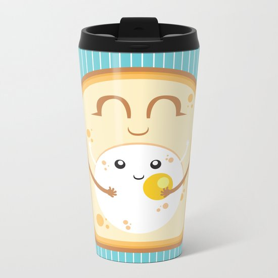 Hug the Egg Metal Travel Mug