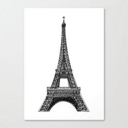 Paris Eiffel Tower Canvas Print