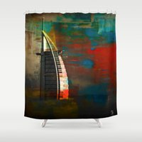 arab Shower Curtains featuring Burj Al Arab by Christine Becksted Images