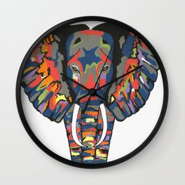 Flashy Elephant Wall Clock