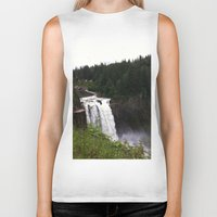 waterfall Biker Tanks featuring Waterfall by Sexyshrimp