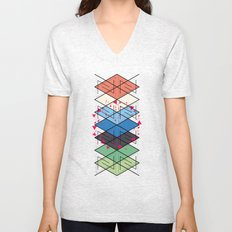 Fractal pattern Unisex V-Neck