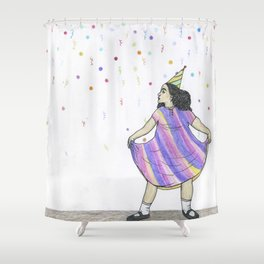party girl Shower Curtain
