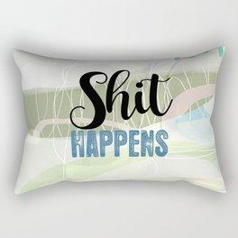 Shit Happens Rectangular Pillow