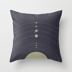 You are here (Solar System) Throw Pillow