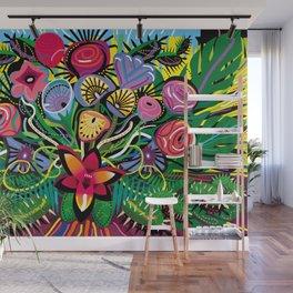 Tropical Flower Arrangement Wall Mural