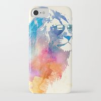 lion iPhone & iPod Cases featuring Sunny Leo   by Robert Farkas