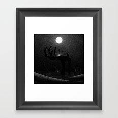 Drawlloween 2016: Skeleton Framed Art Print