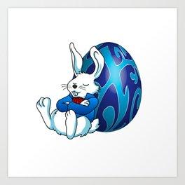 Sleeping Easter Bunny. Art Print