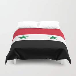 Syrian flag - may PEACE prevail Duvet Cover