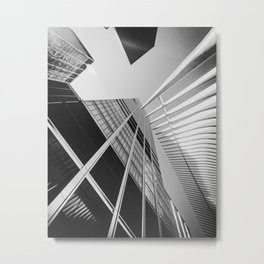 The World trade center district when you look up in the sky, New York | Creative NYC city view | Travel cityscape photography Metal Print