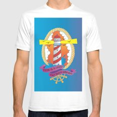 Lighthouse I White MEDIUM Mens Fitted Tee