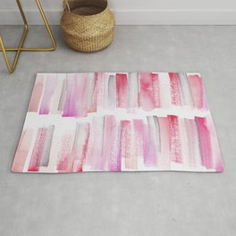 16   181101 Watercolour Palette Abstract Art   Lines   Stripes   Rug