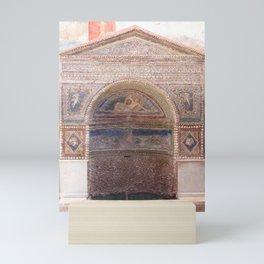 Mosaic Fountain - Pompeii, Italy Mini Art Print
