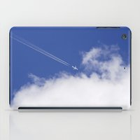 aviation iPad Cases featuring Flying Airplane by Christina Rollo
