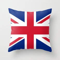 UK FLAG - The Union Jack Authentic color and 3:5 scale  Throw Pillow