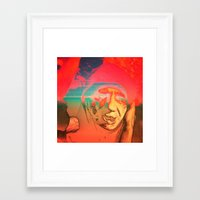 sci fi Framed Art Prints featuring Lo-Fi Sci-Fi by potpourrri