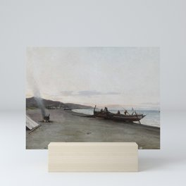 Emilio Ocón y Rivas Preparing for the Catch 1897 Mini Art Print