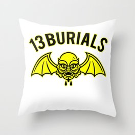 13 Burials - Flying terror Throw Pillow