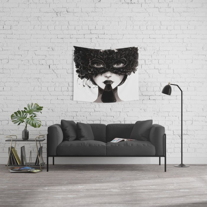 La veuve affamee Wall Tapestry