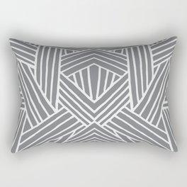 InterLines Gray Rectangular Pillow