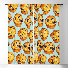 Blueberry Muffin Pattern Blackout Curtain
