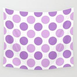 Lilac polka dots Wall Tapestry
