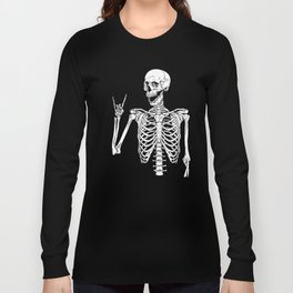 Rock and Roll Skeleton Long Sleeve T-shirt