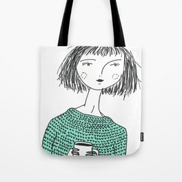 Coffee and Sweaters Tote Bag