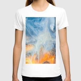 Japanese Waves Marbling Art T-shirt