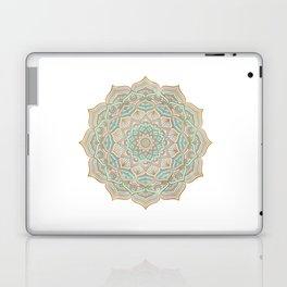 Mystic mandala - blue and gold Laptop & iPad Skin