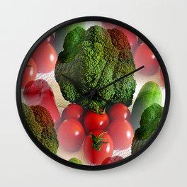 Healthy Vegetables Wall Clock