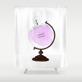 Purple Perfume Globus Shower Curtain