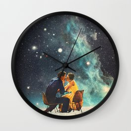 I'll Take you to the Stars for a second Date Wall Clock