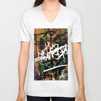 graffiti V-neck T-shirts featuring Graffiti  by A'lysia Alcorn